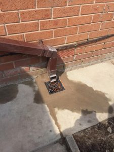 blocked outside drain after it has been cleared
