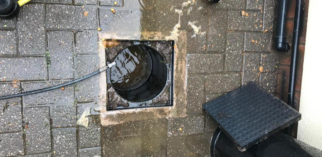 Cleared manhole after it has been unblocked