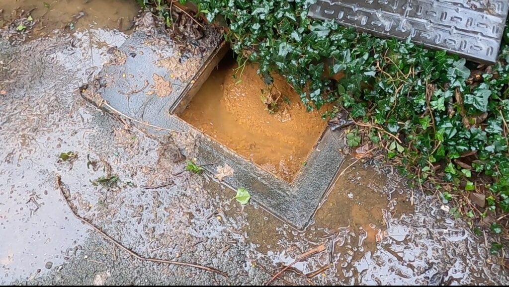 blocked manhole pre drain survey in Liverpool