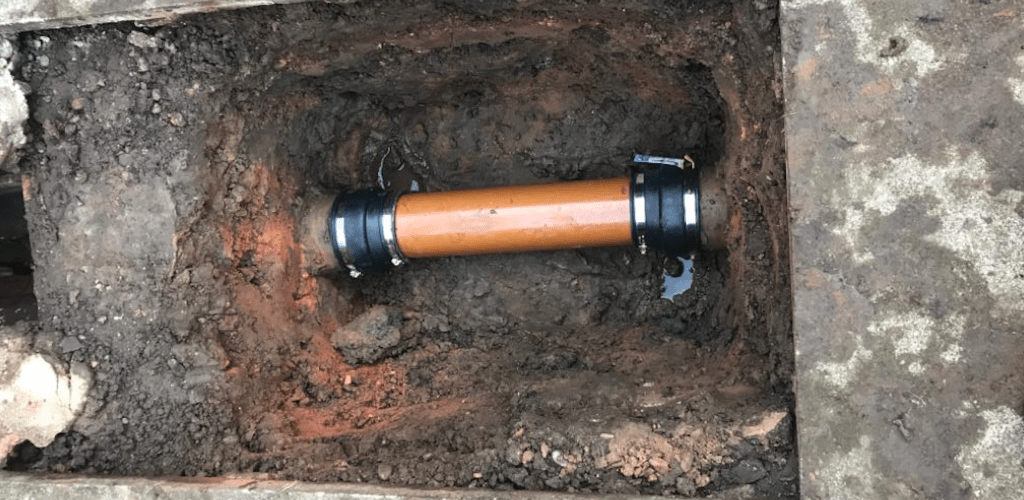 drain repair at a commercial property