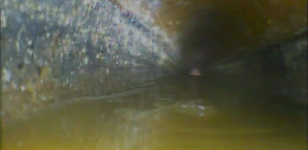 Image of drain inspected using CCTV drainage camera equipment